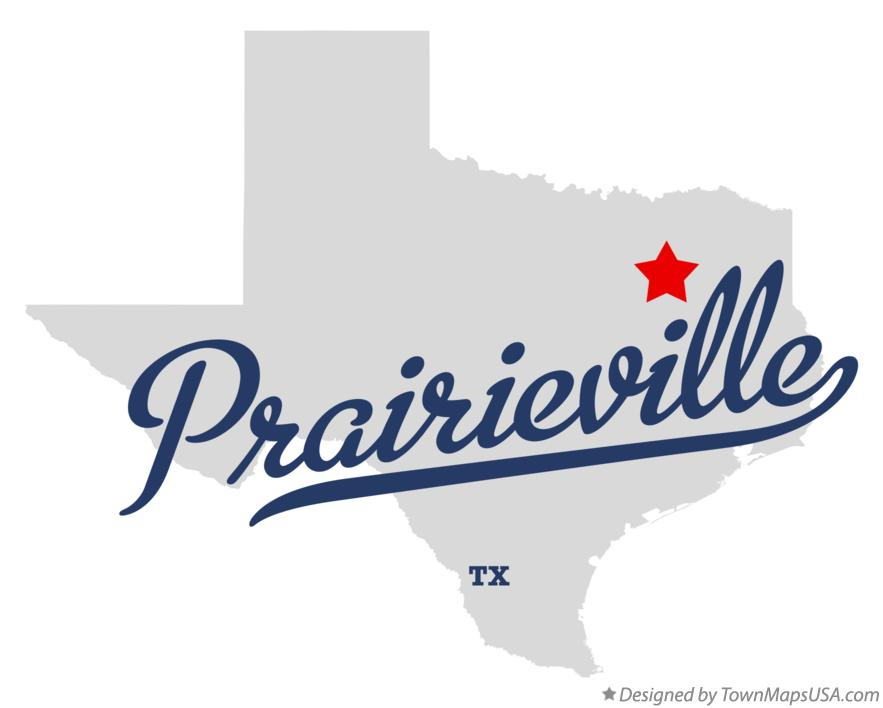 Map of Prairieville Texas TX