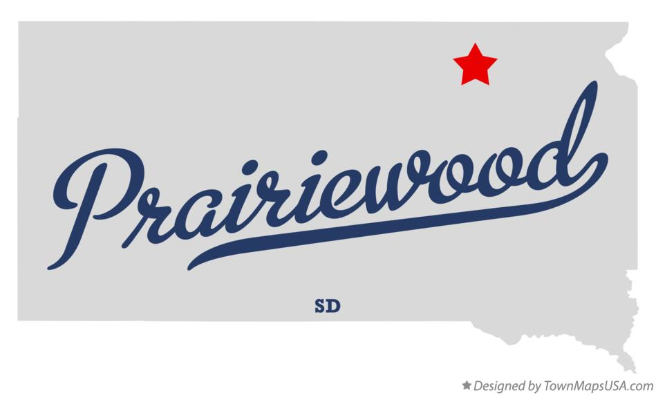 Map of Prairiewood South Dakota SD