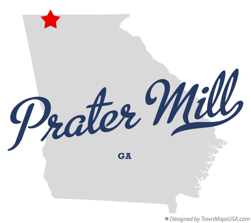 Map of Prater Mill Georgia GA
