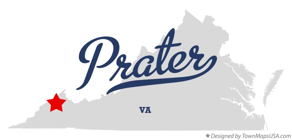 Map of Prater Virginia VA