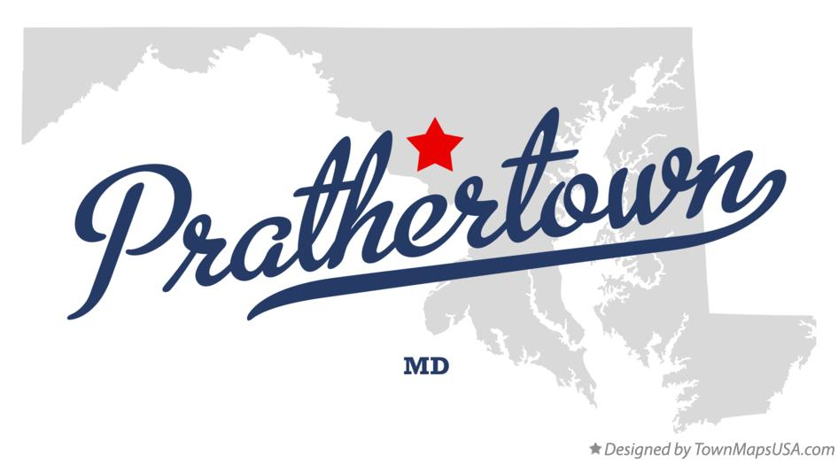 Map of Prathertown Maryland MD