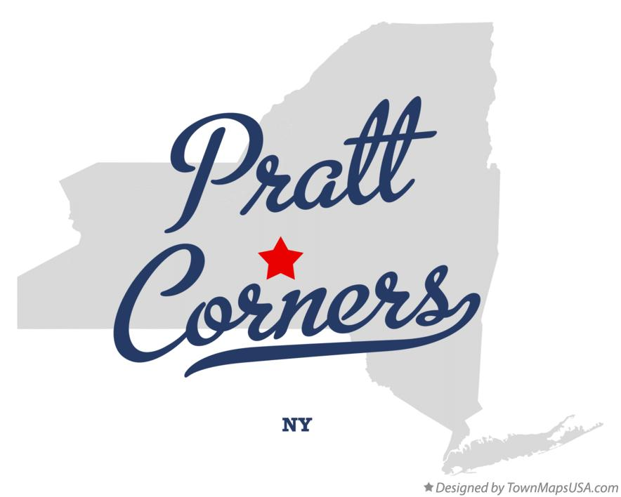 Map of Pratt Corners New York NY