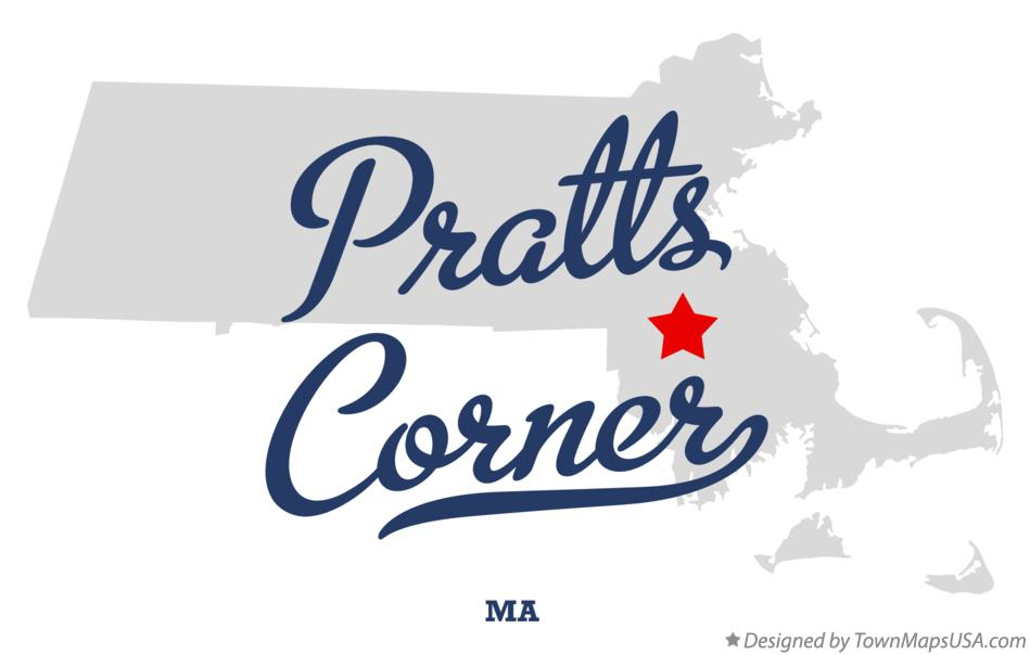 Map of Pratts Corner Massachusetts MA