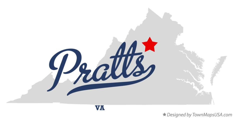 Map of Pratts Virginia VA