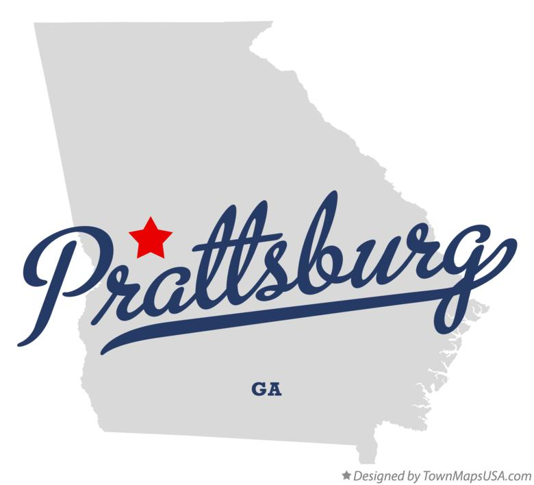 Map of Prattsburg Georgia GA