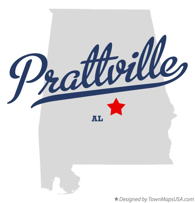 Map of Prattville Alabama AL