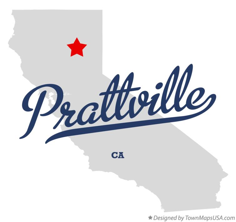 Map of Prattville California CA
