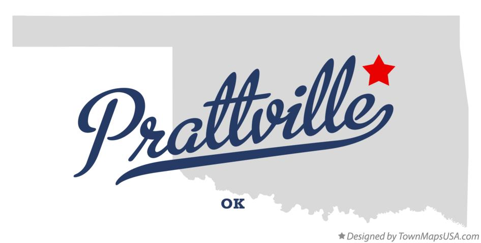 Map of Prattville Oklahoma OK