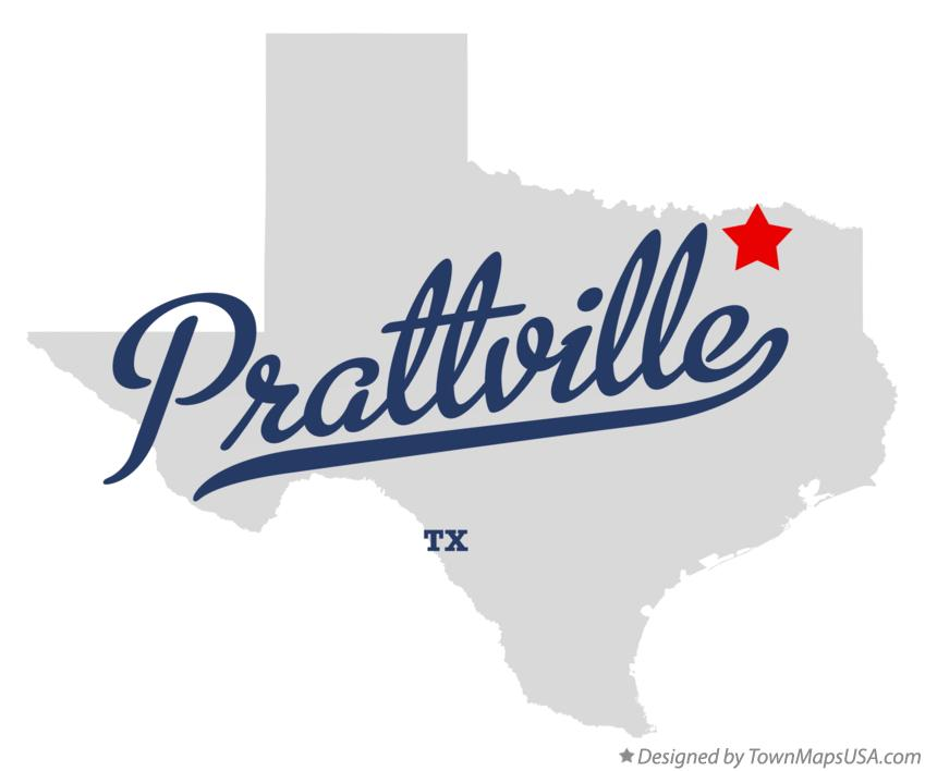 Map of Prattville Texas TX