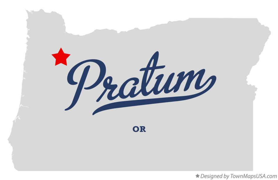 Map of Pratum Oregon OR