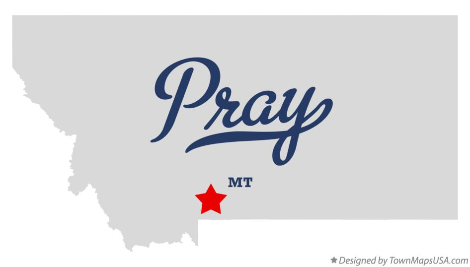 Map of Pray Montana MT