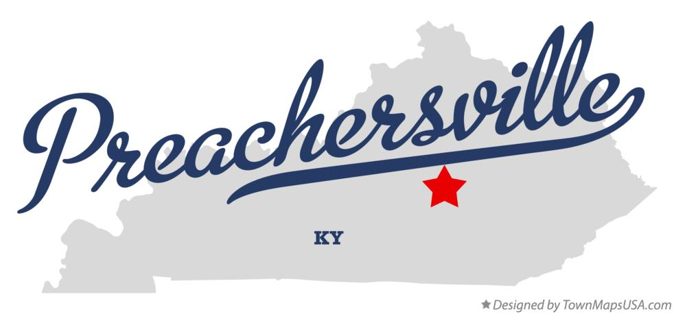 Map of Preachersville Kentucky KY