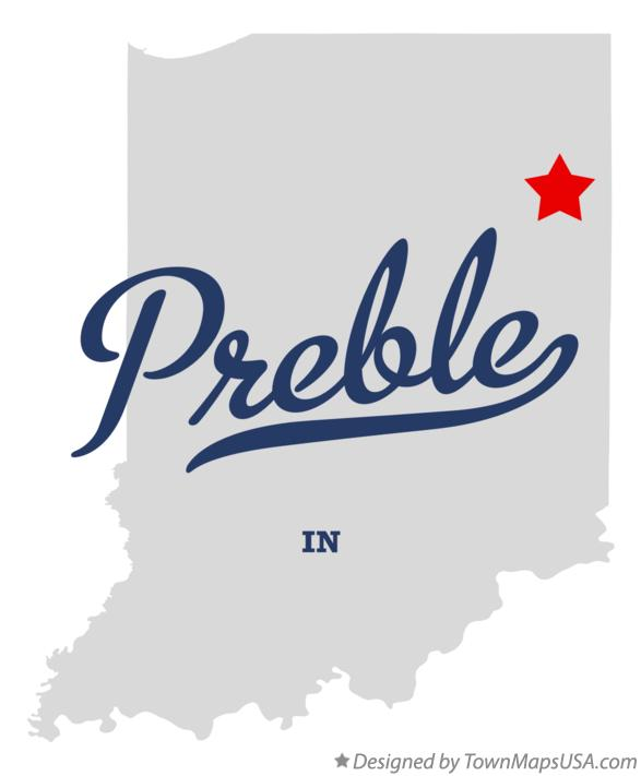 Map of Preble Indiana IN