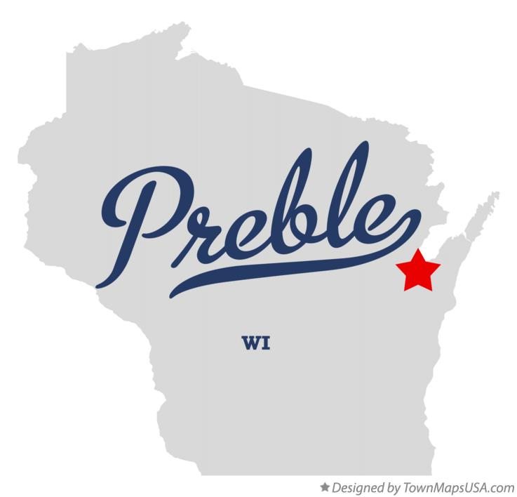 Map of Preble Wisconsin WI