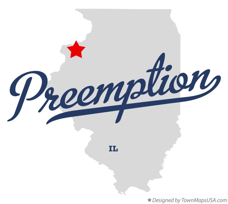 Map of Preemption Illinois IL
