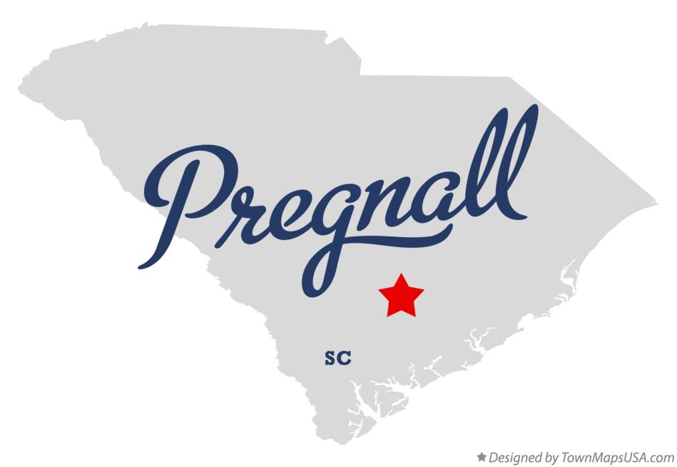 Map of Pregnall South Carolina SC