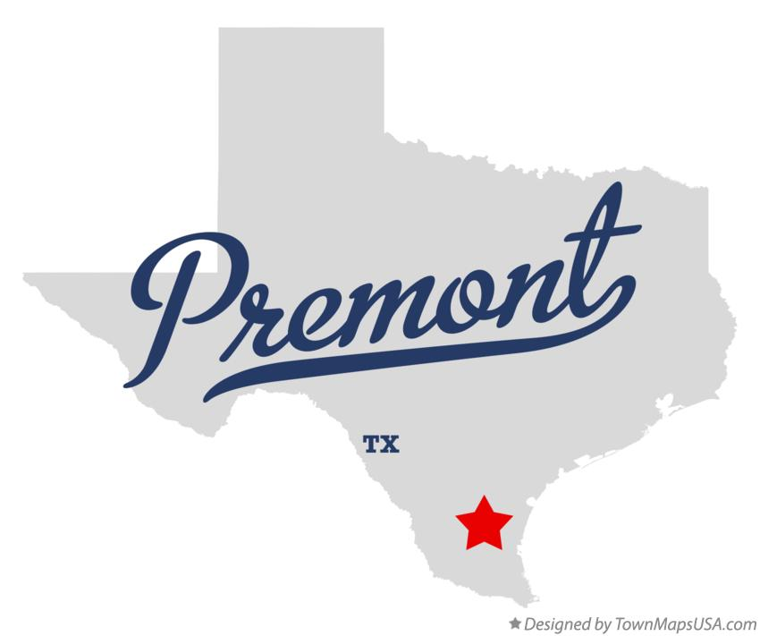 Map of Premont Texas TX