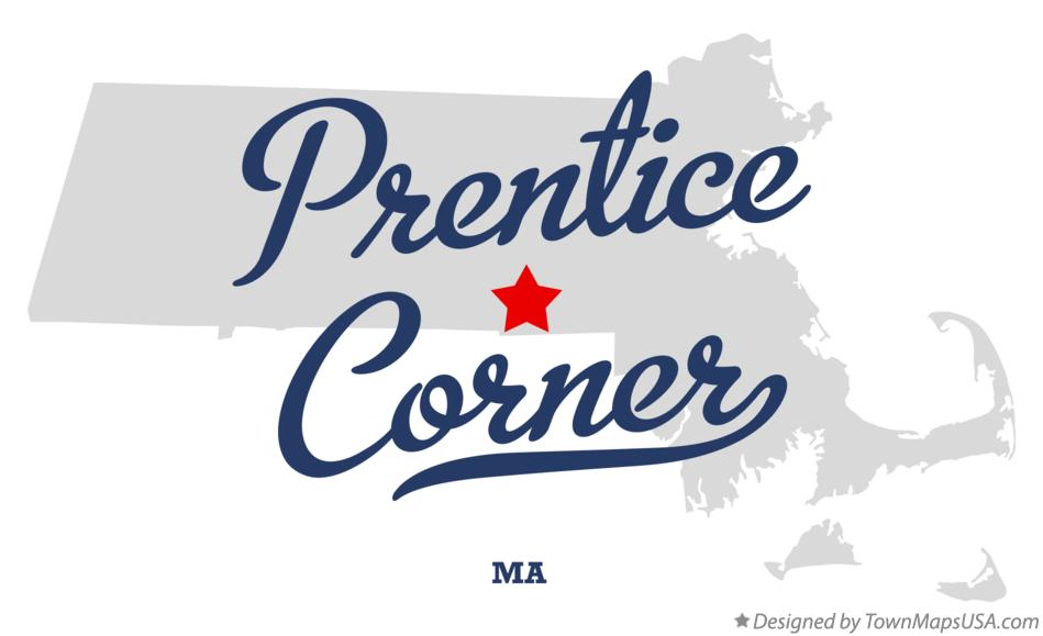 Map of Prentice Corner Massachusetts MA
