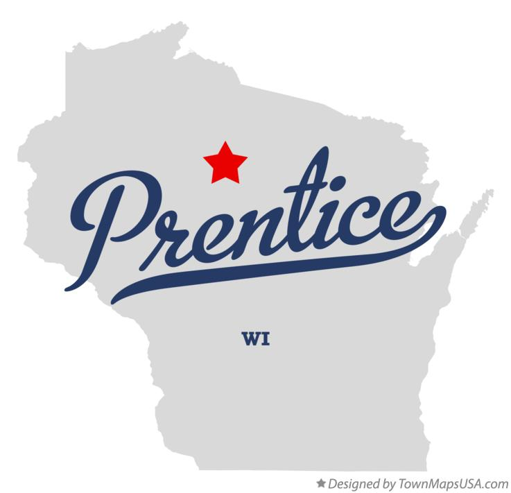 Map of Prentice Wisconsin WI