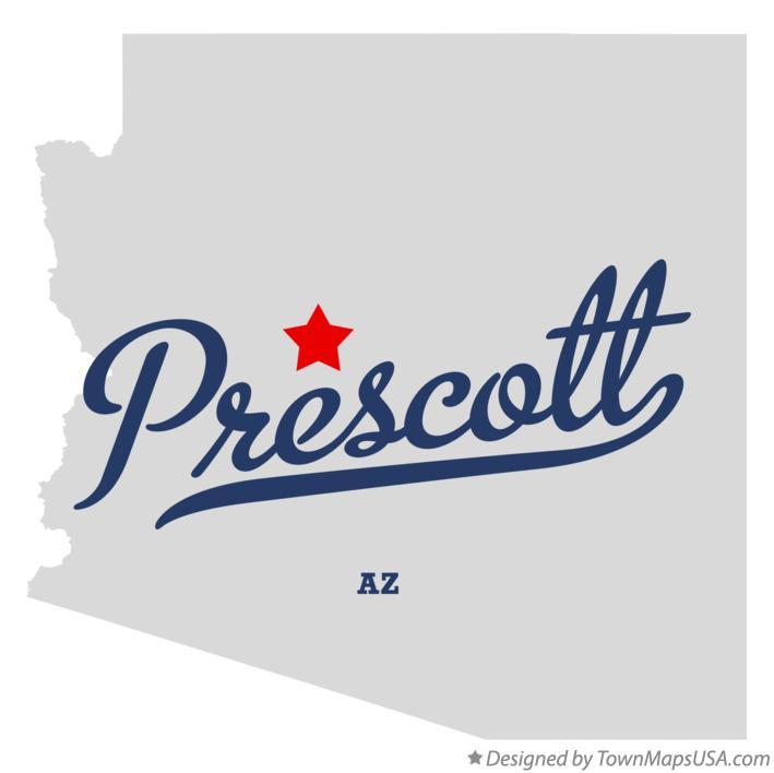 Map Of Prescott Az Arizona