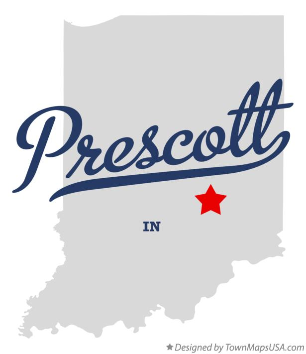 Map of Prescott Indiana IN