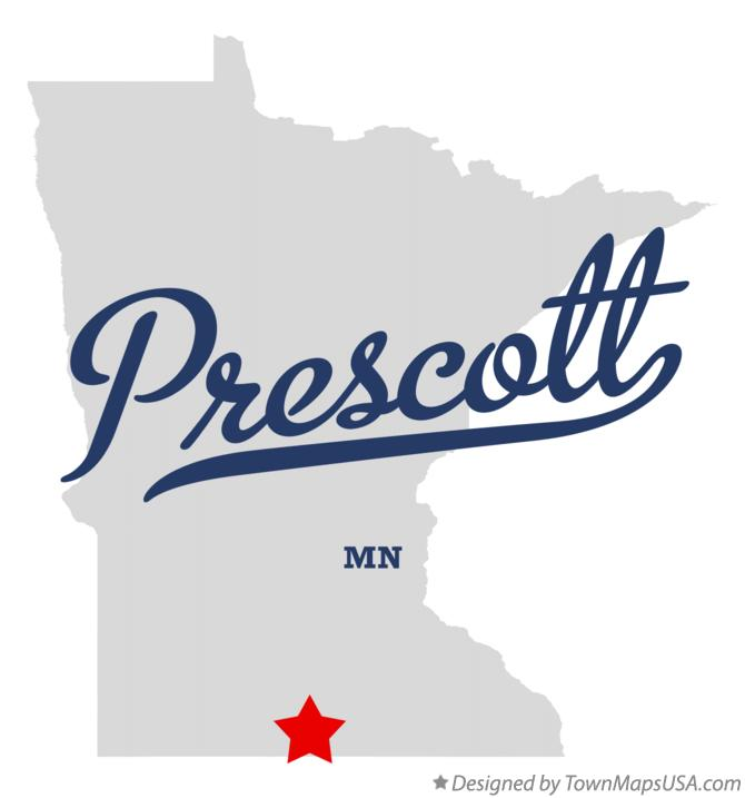 Map of Prescott Minnesota MN