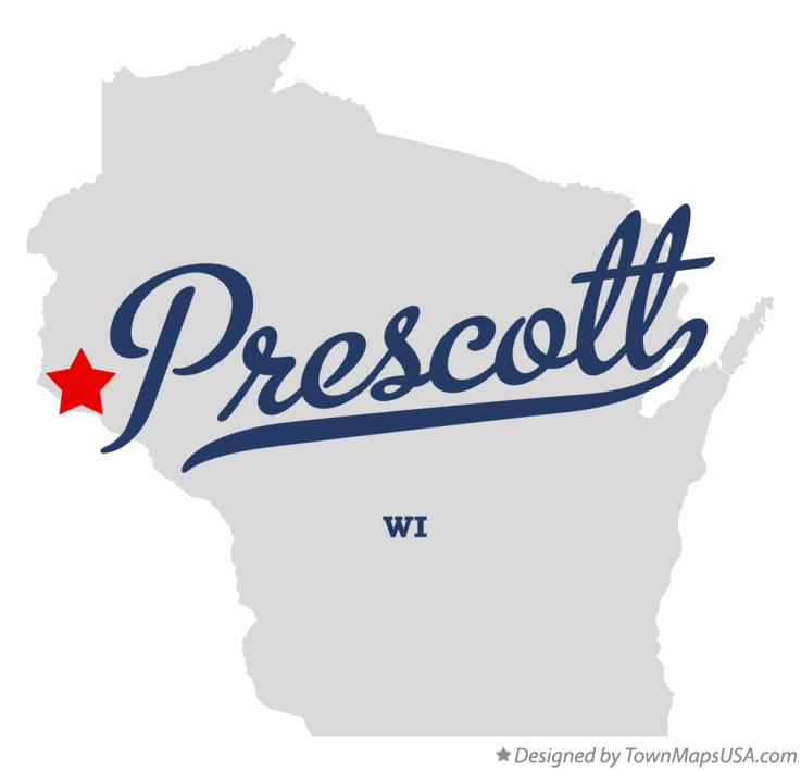 Map of Prescott Wisconsin WI