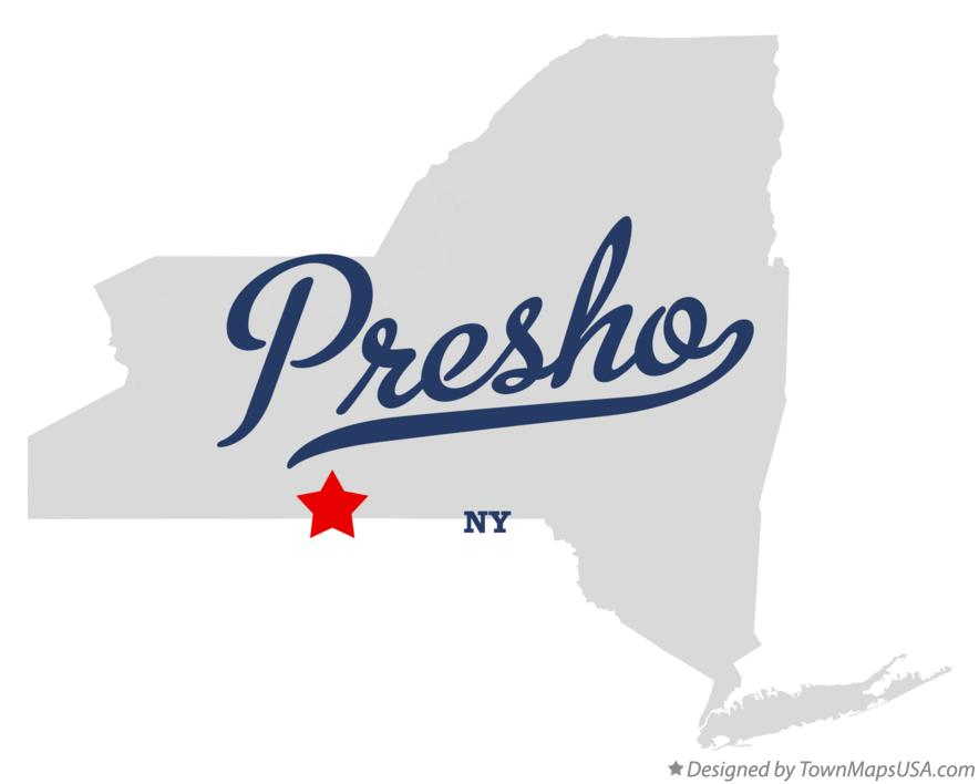 Map of Presho New York NY