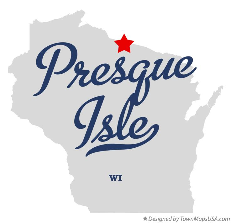 Map of Presque Isle Wisconsin WI