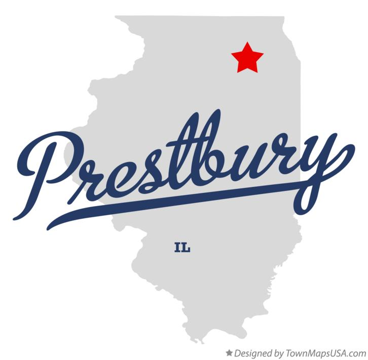 Map of Prestbury Illinois IL