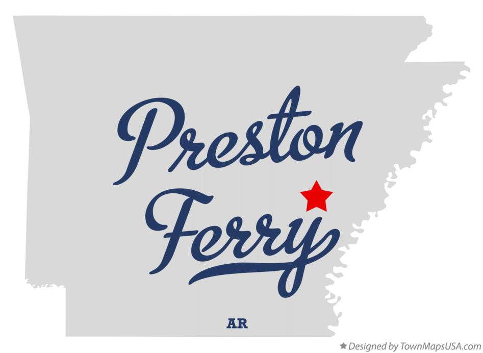 Map of Preston Ferry Arkansas AR