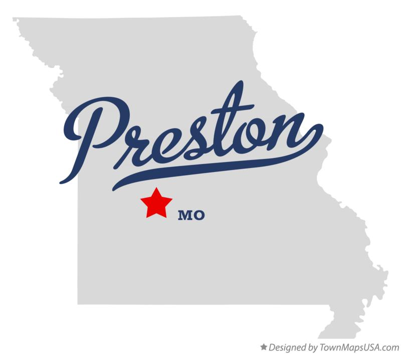 Map of Preston Missouri MO