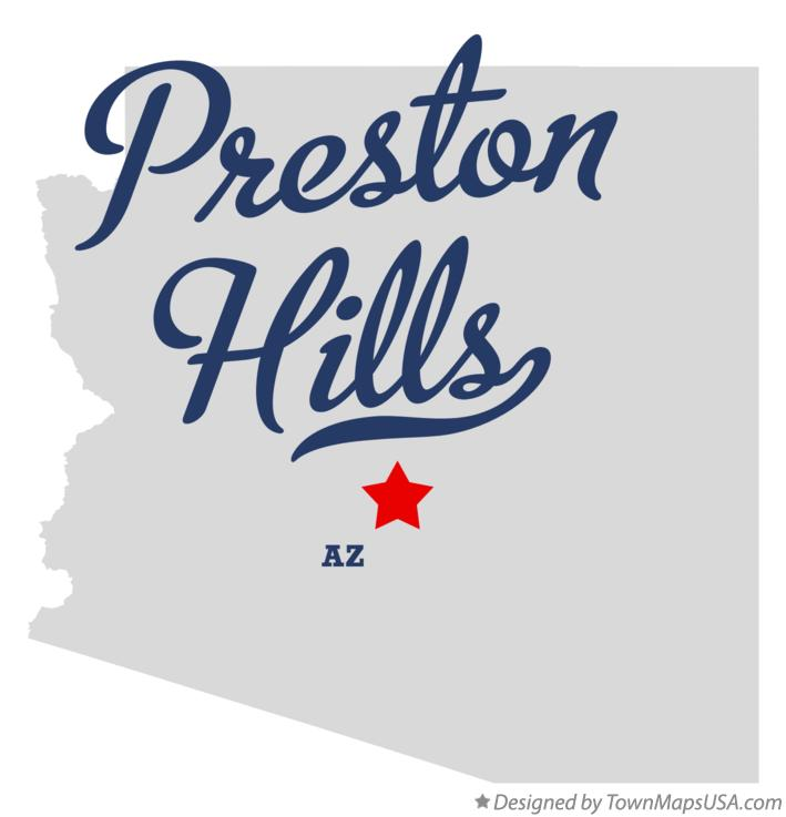 Map of Preston Hills Arizona AZ