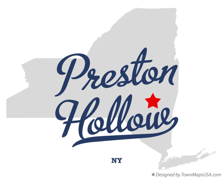 Map of Preston Hollow New York NY