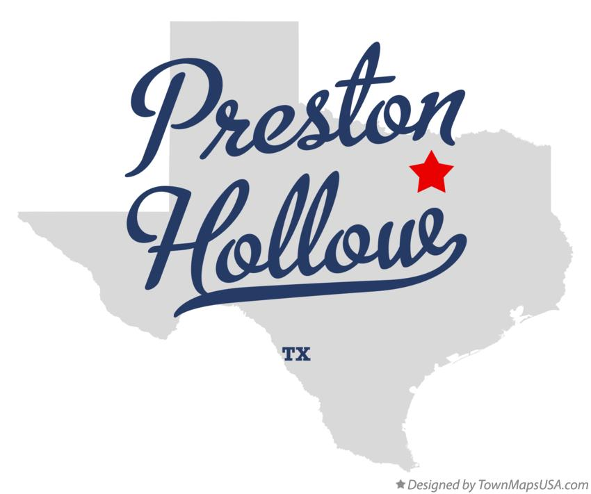 Map of Preston Hollow Texas TX