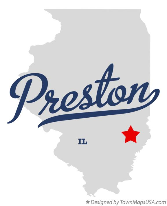 Map of Preston Illinois IL