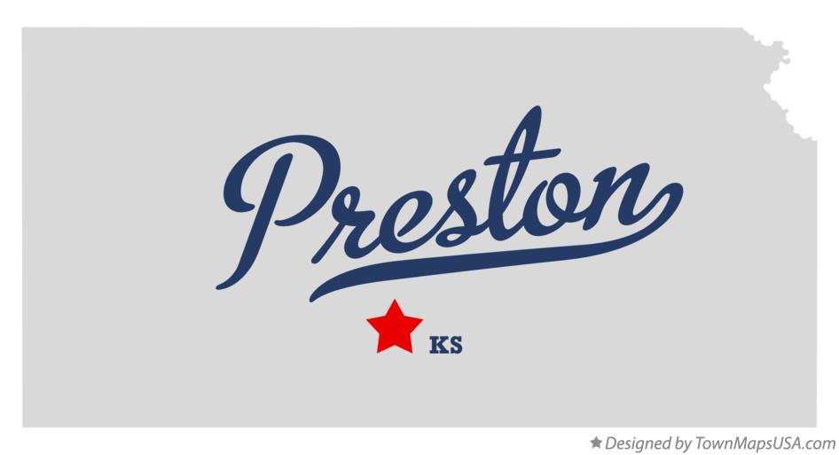 Map of Preston Kansas KS