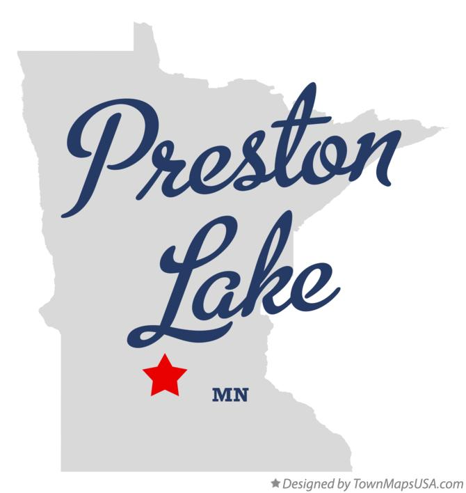 Map of Preston Lake Minnesota MN