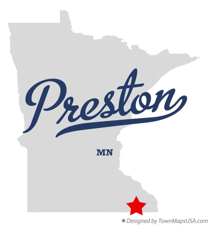 Map of Preston Minnesota MN