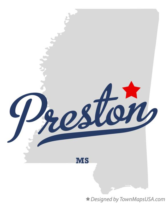 Map of Preston Mississippi MS