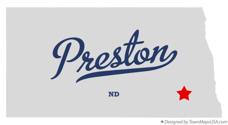 Map of Preston North Dakota ND
