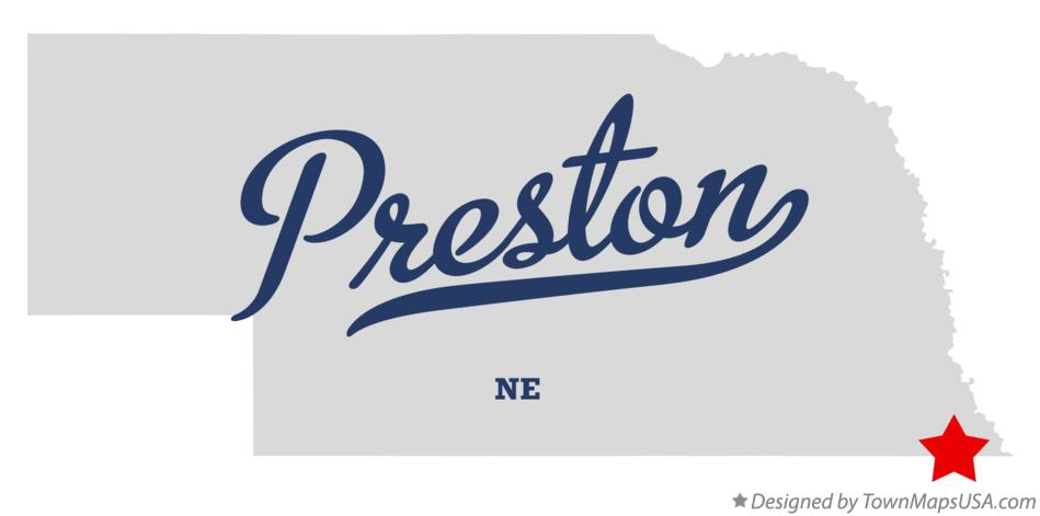 Map of Preston Nebraska NE