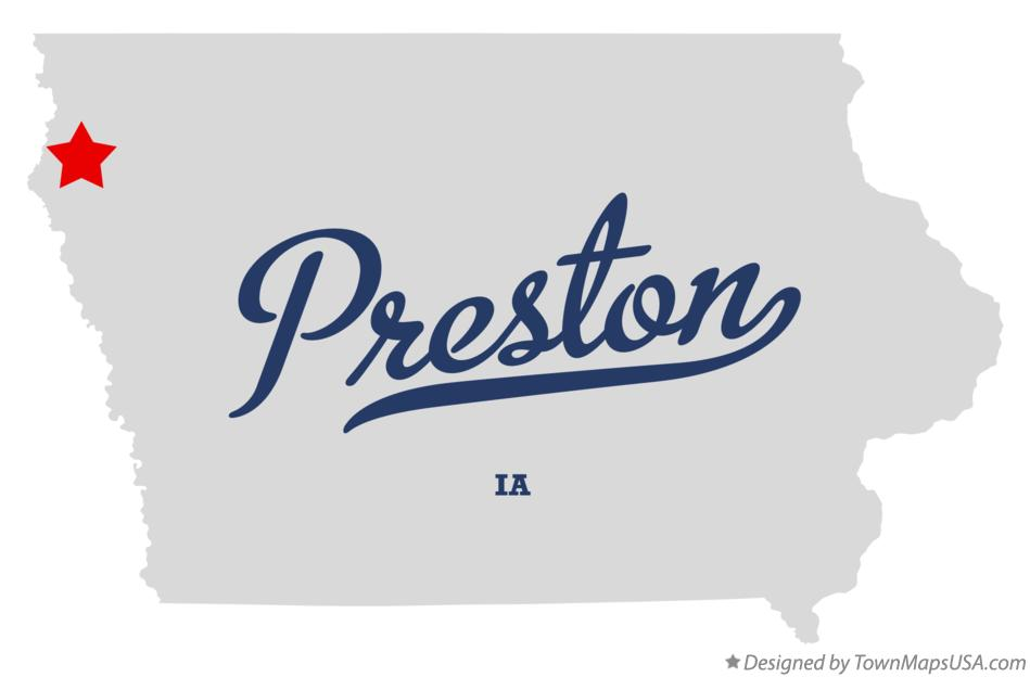 Map of Preston Iowa IA
