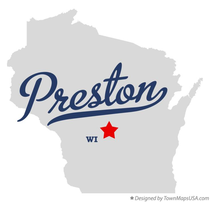 Map of Preston Wisconsin WI