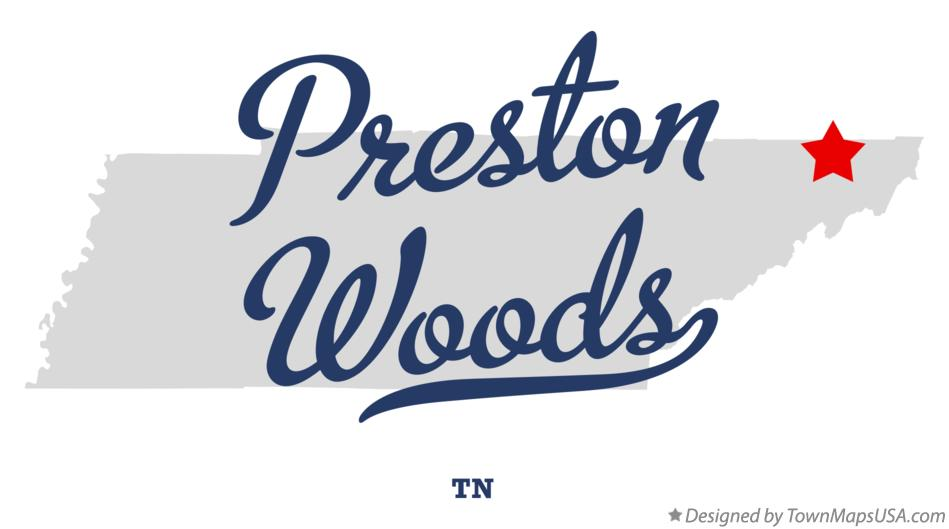 Map of Preston Woods Tennessee TN