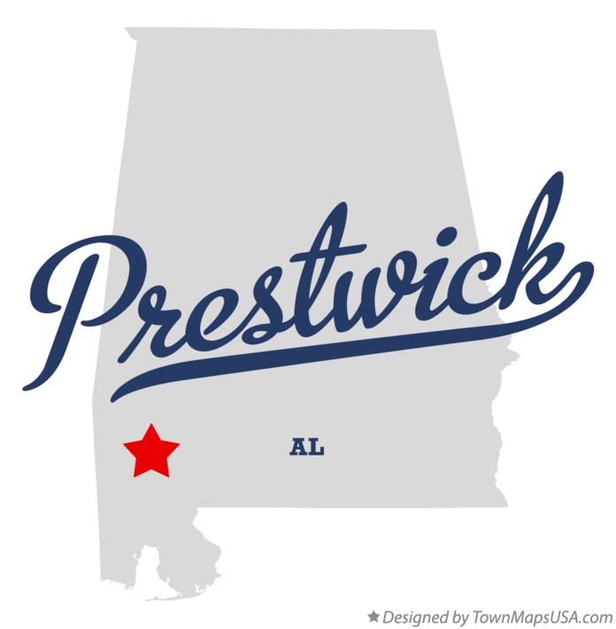 Map of Prestwick Alabama AL