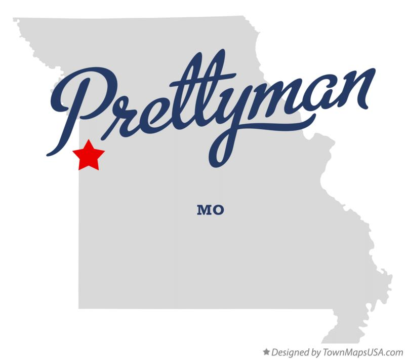 Map of Prettyman Missouri MO