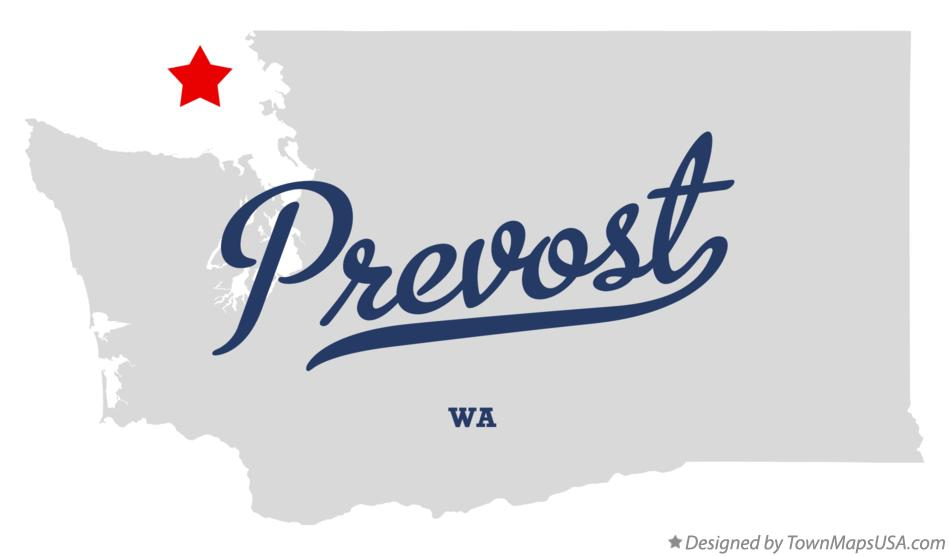 Map of Prevost Washington WA