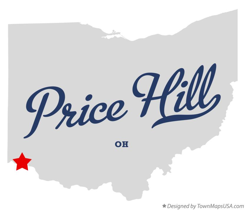 Map of Price Hill Ohio OH