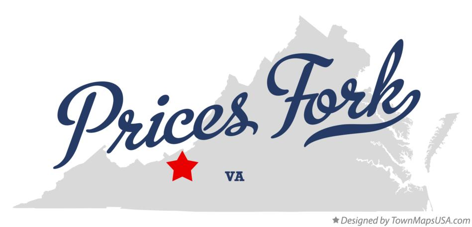 Map of Prices Fork Virginia VA